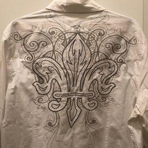 Archaic Button Down Embroidered Shirt - Sz - XL